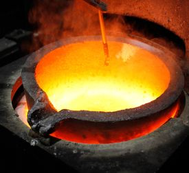 Refining Gold at KMG Gold Refining