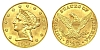 $2.50 - 900 Fine Gold American Coronet Liberty HeadHead Quarter Eagle, 4.8g KMG Gold