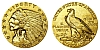 $2.50 - 900 Fine Gold American Indian Head Quarter Eagle, 4.8g KMG Gold